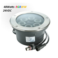 Waterproof LED Underground Light 24VDC RGBW 48W