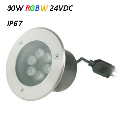 Waterproof LED Underground Light 24VDC RGBW 30W